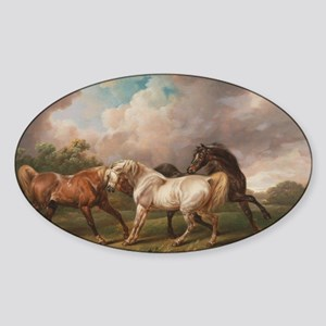The Meeting of the Horses Sticker (Oval)