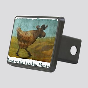 Beware the Chicken Moose! Rectangular Hitch Cover