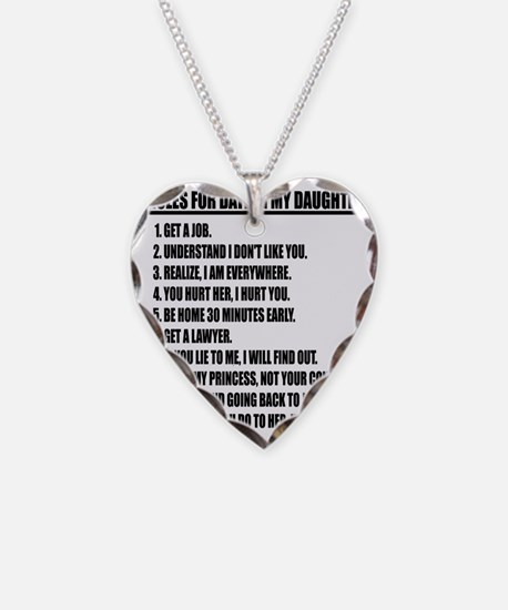 Rules For Dating My Daughter Necklace