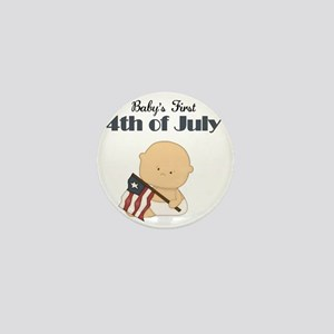 Boy Babys First 4th of July Mini Button