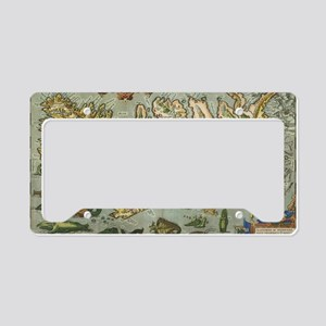 Iceland Map 1590 License Plate Holder