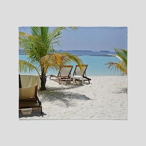 Pure Maldives Throw Blanket