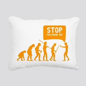 Evolution is following m Rectangular Canvas Pillow