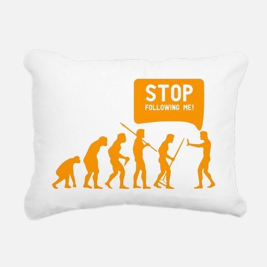 Evolution is following m Rectangular Canvas Pillow