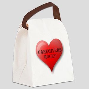 Caregivers Rock Canvas Lunch Bag
