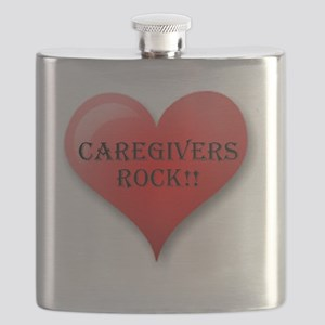 Caregivers Rock Flask