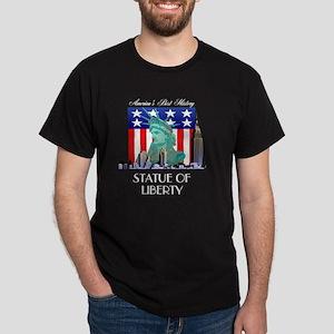 statueofliberty4btran Dark T-Shirt