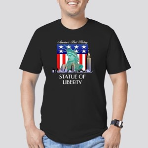 statueofliberty4btran Men's Fitted T-Shirt (dark)