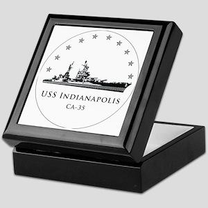 USS Indianapolis Image Round Keepsake Box