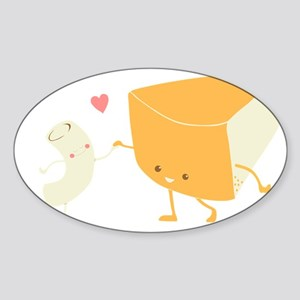 Mac and Cheese Forever Sticker (Oval)