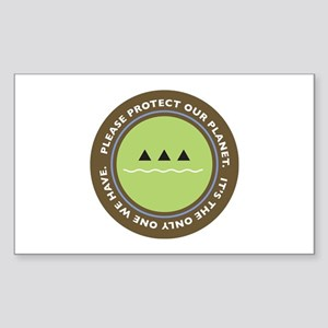 ecology logo Rectangle Sticker