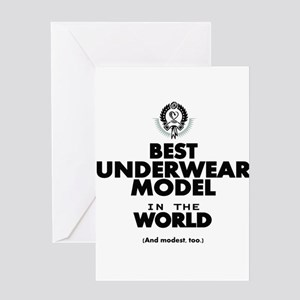 The Best in the World Underwear Model Greeting Car