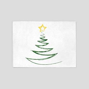 OH CHRISTMAS TREE 5'x7'Area Rug
