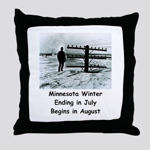 Winter in... Throw Pillow