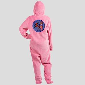 3-vf32logo Footed Pajamas