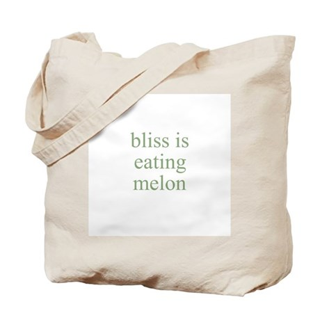 bliss is eating melon Tote Bag