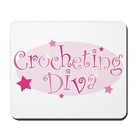 """Crocheting Diva"" [pink] Mousepad"