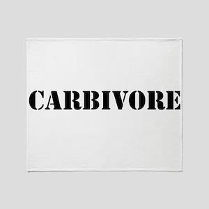 Carbivore Throw Blanket