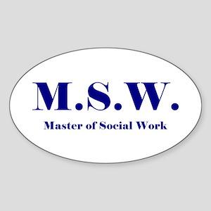MSW (Design 2) Oval Sticker