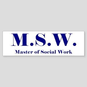 MSW (Design 2) Bumper Sticker