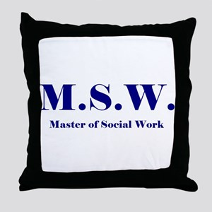 MSW (Design 2) Throw Pillow