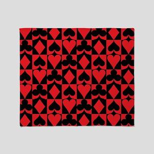 Heart Clubs Spade Diamond Throw Blanket
