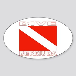Dive Bermuda Oval Sticker