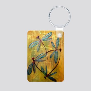 Dragonfly Haze Aluminum Photo Keychain