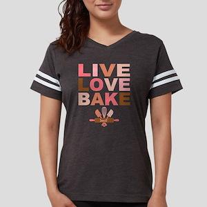 Live Love Bake Womens Football Shirt T-Shirt