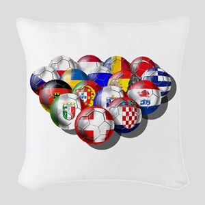 Europe Soccer Woven Throw Pillow