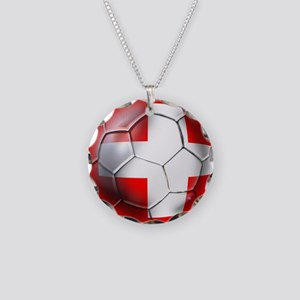 Switzerland Football Necklace Circle Charm