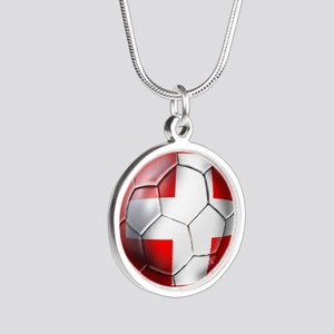 Switzerland Football Silver Round Necklace