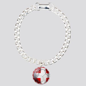 Switzerland Football Charm Bracelet, One Charm
