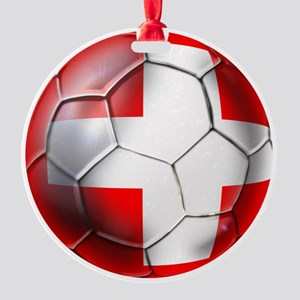 Switzerland Football Round Ornament