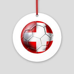 Switzerland Football Ornament (Round)