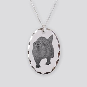 River Otter Necklace Oval Charm