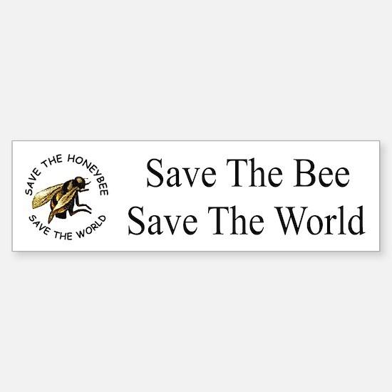 Save The Bee Bumper Bumper Bumper Sticker