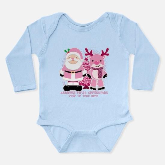 Personalize Pink Santa! Onesie Romper Suit