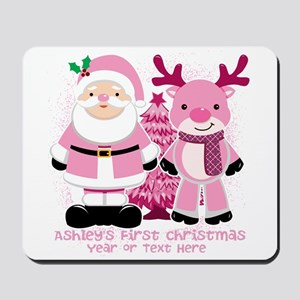 Personalize Pink Santa! Mousepad