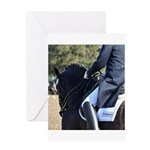 Friesian Sporthorse Dressage Greeting Card