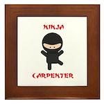 Ninja Carpenter Framed Tile