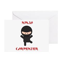 Ninja Carpenter Greeting Card