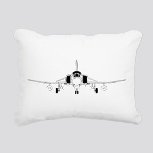 Air Force Jet Rectangular Canvas Pillow