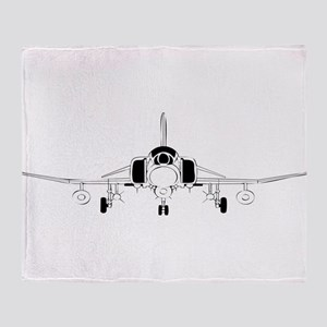 Air Force Jet Throw Blanket