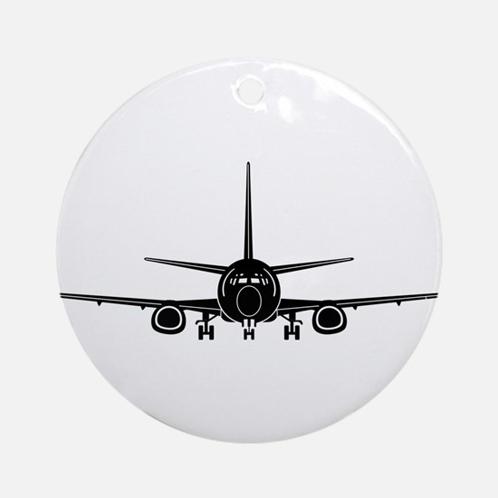 Airplane Ornament (Round)