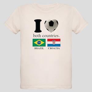 BRAZIL-CROATIA Organic Kids T-Shirt