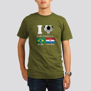 BRAZIL-CROATIA Organic Men's T-Shirt (dark)