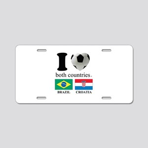 BRAZIL-CROATIA Aluminum License Plate