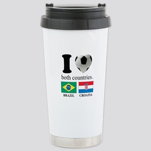 BRAZIL-CROATIA Stainless Steel Travel Mug
