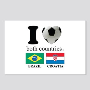 BRAZIL-CROATIA Postcards (Package of 8)
